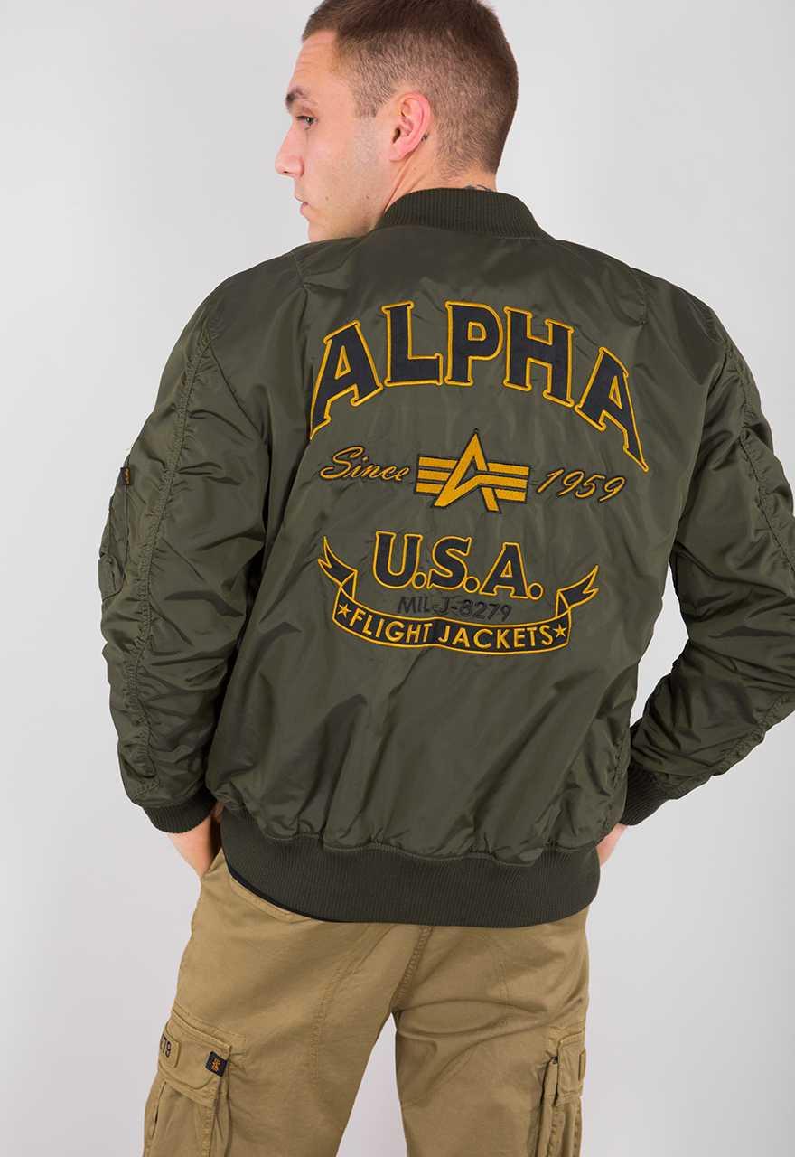 Alpha Industries MA-1 TT Patch SF-- dark green Blouson Bomberjacke
