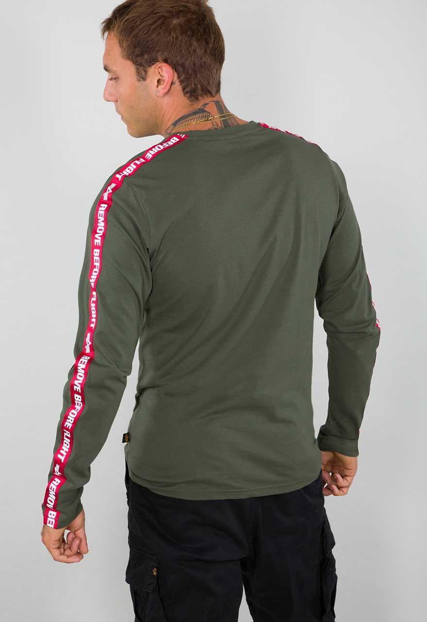 ALPHA INDUSTRIES Men Long-Sleeve T-Shirt AI Tape