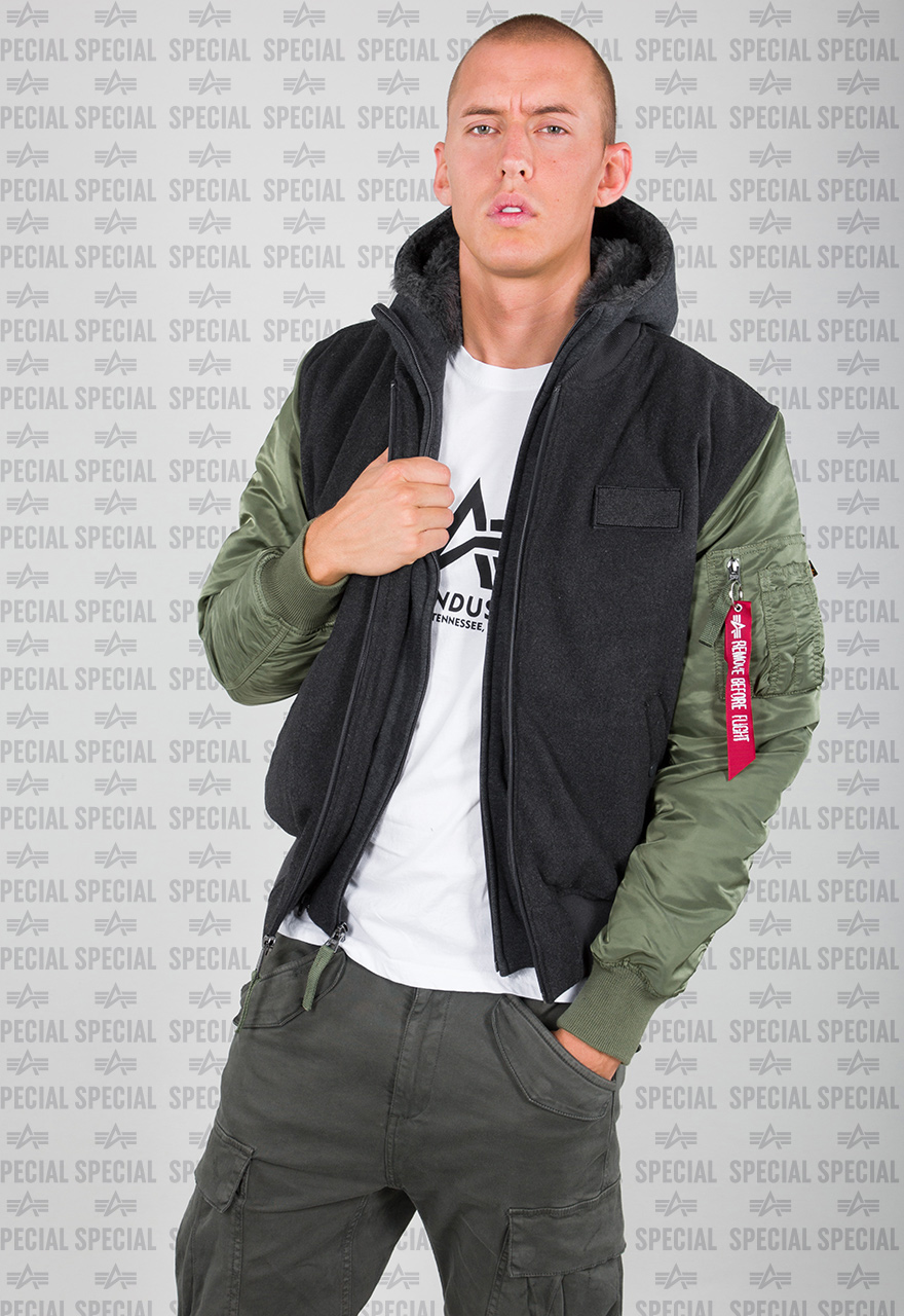 alpha industries jacke ma 1 d tec wool
