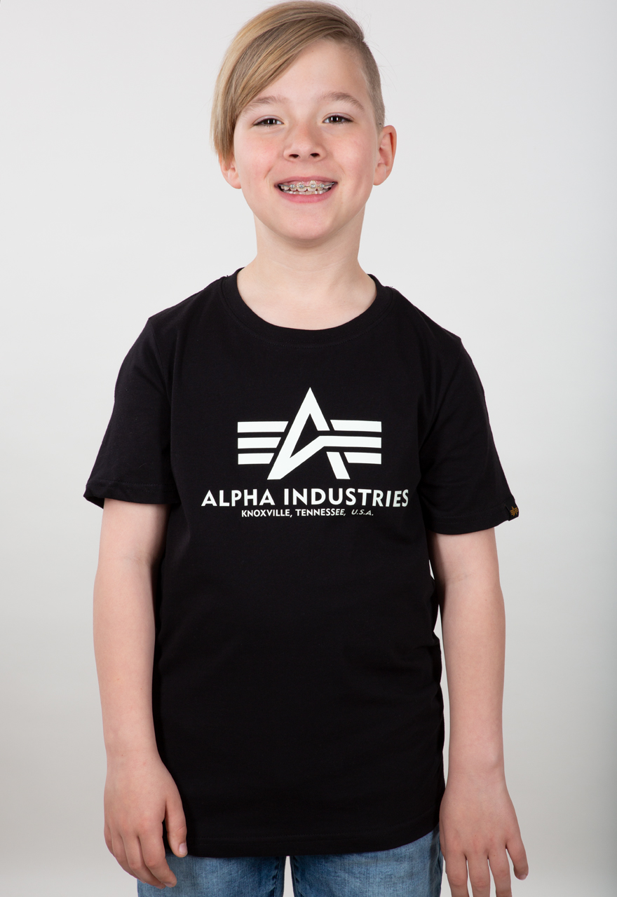 Alpha Industries Kinder Basic T-Shirt dark olive