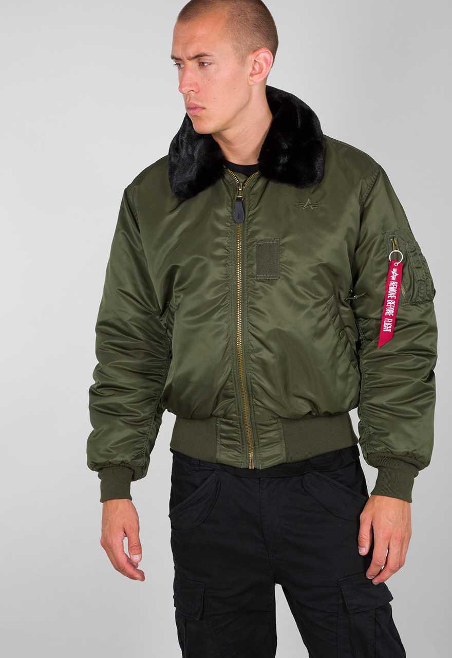 ALPHA INDUSTRIES mens B-15 Nylon Flight Jacket